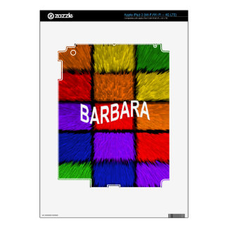 BARBARA ( female names ) Decal For iPad 3