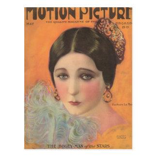 Barbara La Marr 1924 movie magazine Postcard
