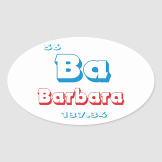 Barbara Oval Sticker