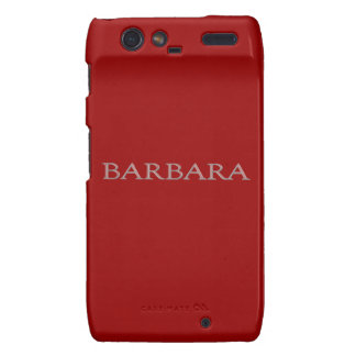 Barbara Personalized Name Droid RAZR Case