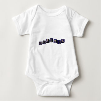 Barbara toy blocks in blue. Great gift for loved o Baby Bodysuit