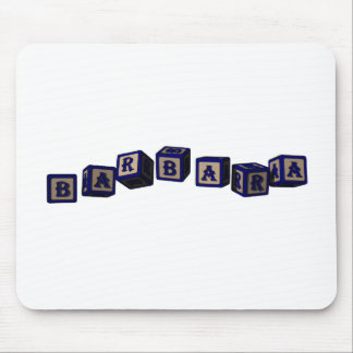 Barbara toy blocks in blue. Great gift for loved o Mouse Pad
