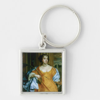 Barbara Villiers Duchess of Cleveland Silver-Colored Square Keychain