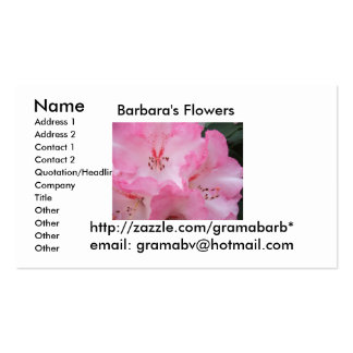 Barbara's Flowers Business Cards