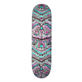 Barbarian Feather Boho Watercolor Tribal Skateboard Deck