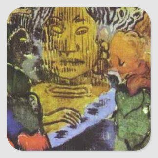 Barbarian music by Paul Gauguin Square Sticker