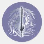 Barbarian Round Sticker