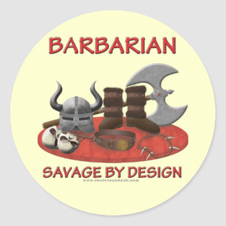 Barbarian: Savage by Design Classic Round Sticker