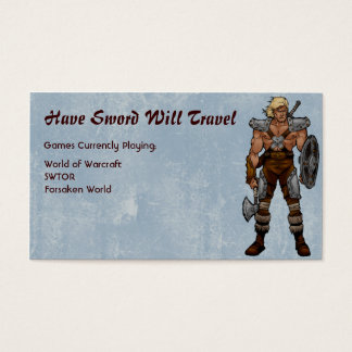 Barbarian Warrior RPG Gamer Business Card