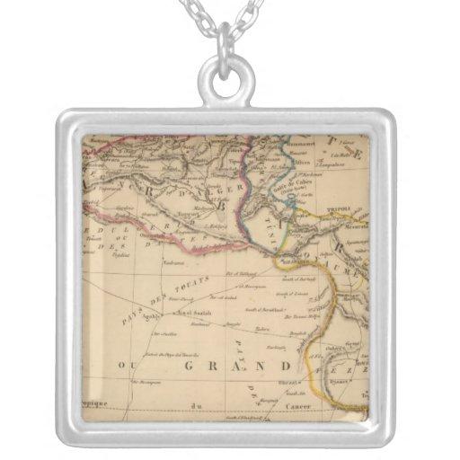 barbarity square pendant necklace