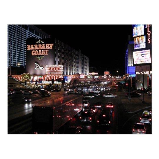 Barbary Coast Las Vegas at night Postcard