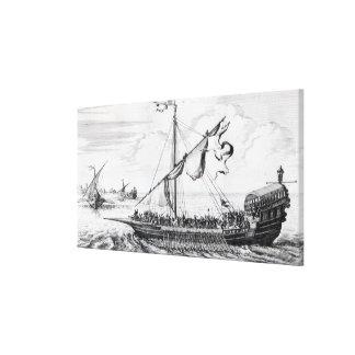 Barbary Galleys Canvas Print