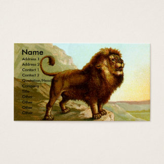 Barbary Lion Business Card