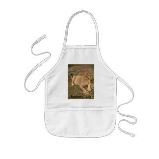 Barbary Lion-nap-007, león de Barbary Delantal Infantil