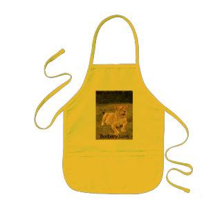 Barbary Lion-nap-009, león de Barbary Delantal Infantil