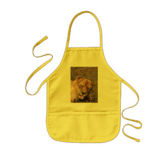 Barbary Lion-nap-017, Barbary Lion Kids' Apron