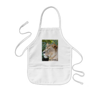 Barbary Lion-set-1-008, león de Barbary Delantal Infantil