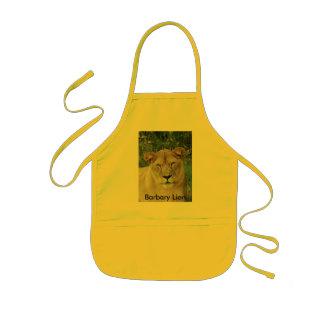 Barbary Lion-set-1-009, león de Barbary Delantal Infantil