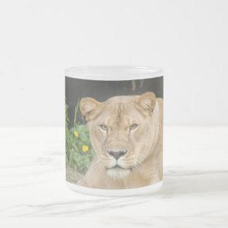 Barbary Lion-set-1-015 Frosted Glass Coffee Mug
