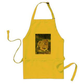 Barbary Lion-toy-012, león de Barbary Delantal