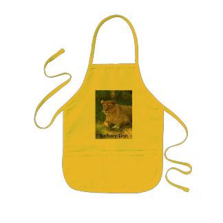 Barbary Lion-toy-018, león de Barbary Delantal Infantil