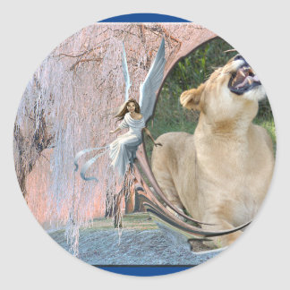 Barbary Lion-Toy-c-17 copy Classic Round Sticker