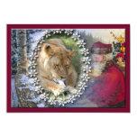 Barbary Lion-Toy-c-46 Invitación 12,7 X 17,8 Cm