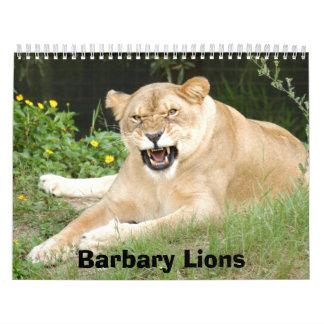 Barbary Lions Calendar, Barbary Lions Calendar