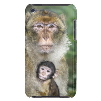 Barbary Macaque . Adulte with babyMacaca Barely There iPod Cover