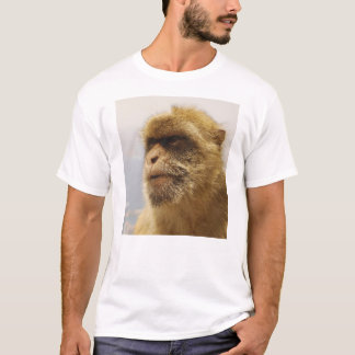 Barbary Macaques in Gibraltar Monkey Face T-Shirt