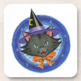 Barbas el gato de Halloween: Prácticos de costa: Posavasos De Bebida