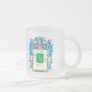Barbat Coat of Arms 10 Oz Frosted Glass Coffee Mug