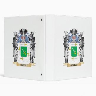 Barbat Coat of Arms - Family Crest 3 Ring Binders