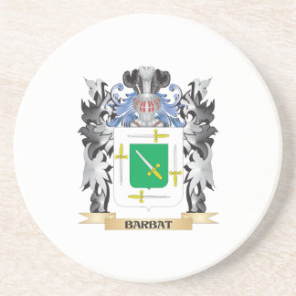 Barbat Coat of Arms - Family Crest Beverage Coasters