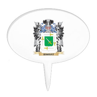 Barbat Coat of Arms - Family Crest Cake Toppers