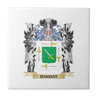 Barbat Coat of Arms - Family Crest Small Square Tile