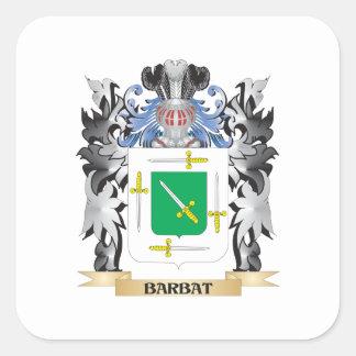 Barbat Coat of Arms - Family Crest Square Sticker