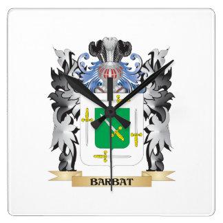Barbat Coat of Arms - Family Crest Square Wallclock