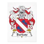 Barbato Family Crest Personalized Announcement