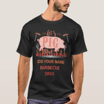 Barbecue BBQ Funny Pig Grill Competition Custom T-Shirt