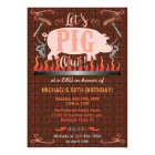 Barbecue BBQ Funny Pig Summer Birthday Party Card