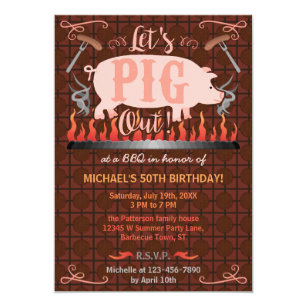 funny bbq invitations zazzle