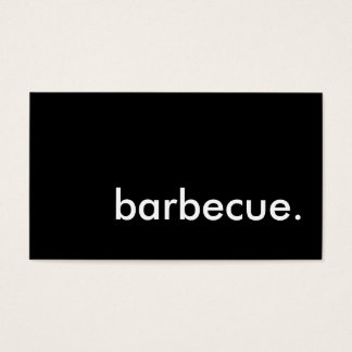 barbecue. business card