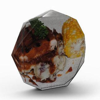Barbecue Chicken and Corn Acrylic Award