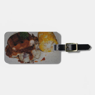 Barbecue Chicken and Corn Luggage Tag