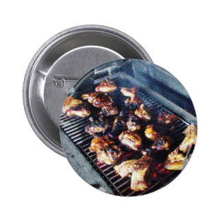 Barbecue Chicken Pinback Buttons