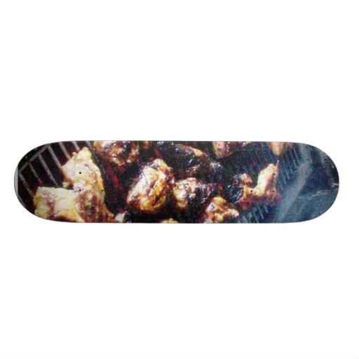 Barbecue Chicken Custom Skate Board