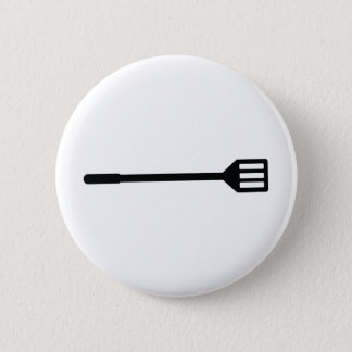 barbecue cutlery icon pinback button