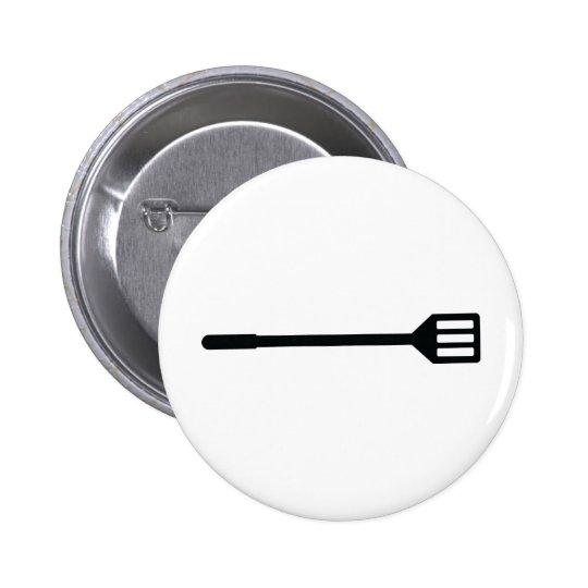barbecue cutlery icon pinback button