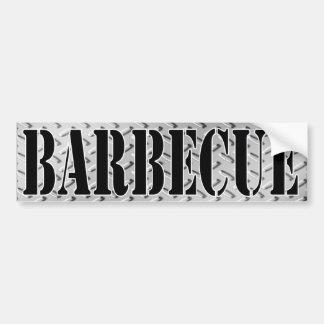 Barbecue Dimond Plated Design Bumper Sticker